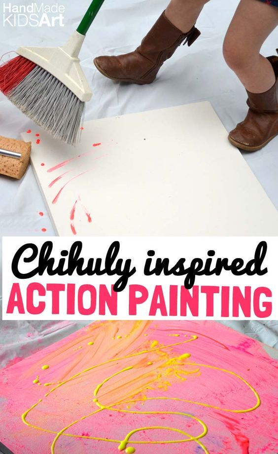 Dale Chihuly Action Painting for Kids