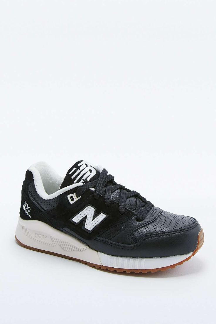 New Balance 530 Black Leather Trainers