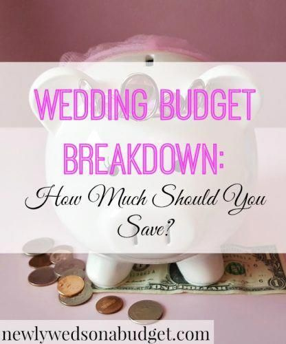wedding budget breakdown how much should you save love