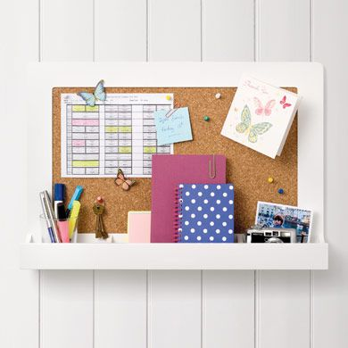 Pin It Up Notice Board. Love this with the shelf too. From the great little trading company: http://www.gltc.co.uk/pin-it-up-notice-board/notice-boards-and-frames/gltc/fcp-product/10002431