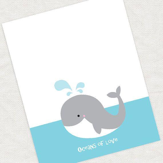 walvis vingerafdruk gast boek baby douche of verjaardag 11 x