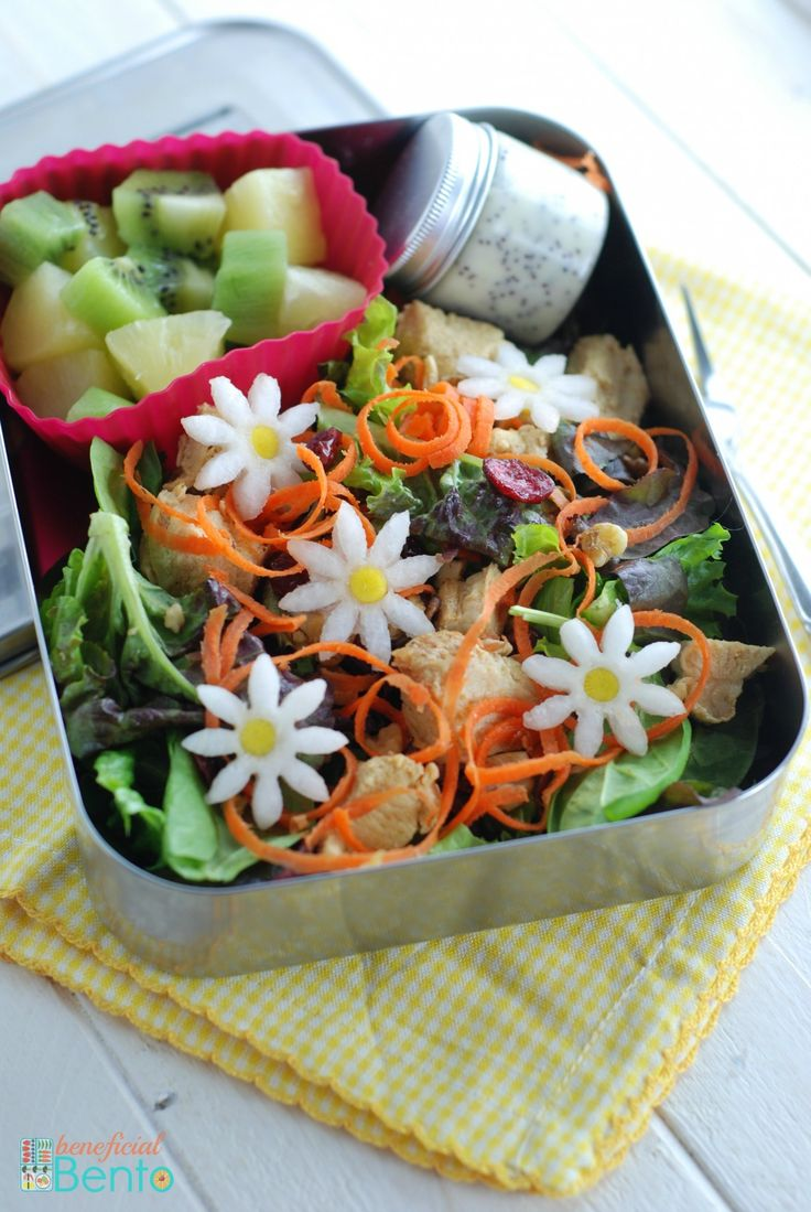 Chicken salad with poppy seed dressing, in #LunchBots Uno