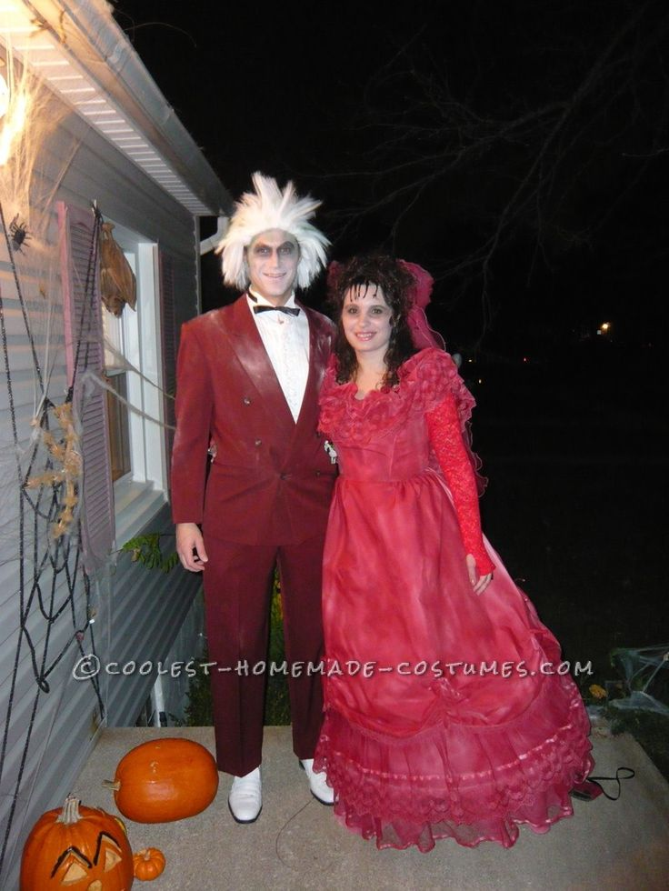 140 best couples costumes images on pinterest carnivals costume coolest couple costume idea beetlejuice and lydia the wedding scene solutioingenieria Image collections