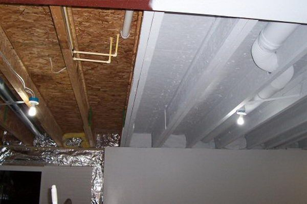 Industrial Look Basement Ceiling Painting Instead Of Drywall Or Drop Ceiling Paint It All With An Airless With Images Basement Makeover Basement Remodeling Diy Basement