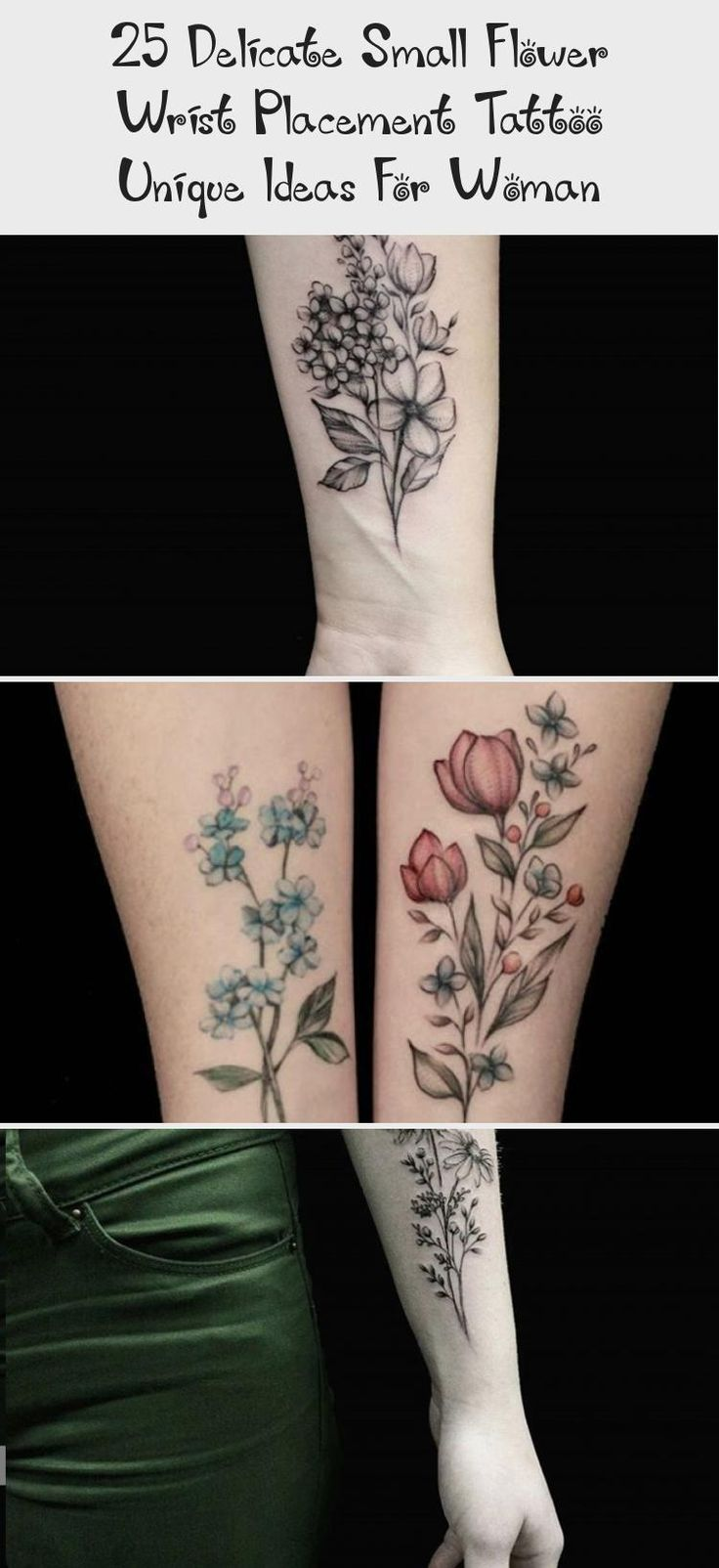 25 Delicate Small Flower Wrist Placement Tattoo Unique