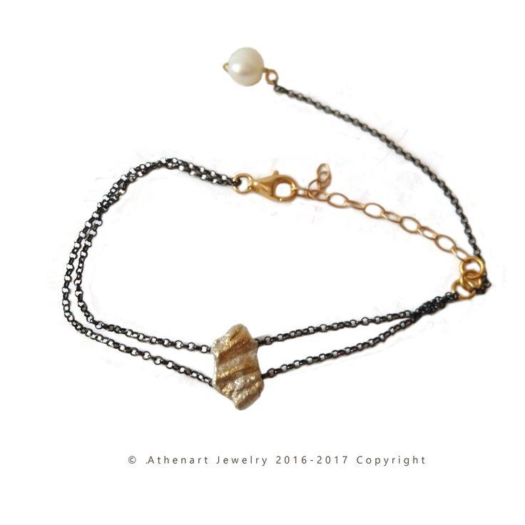 Silver charm bracelet with chain,black bracelet,contemporary bracelet,chain bracelet,dainty bracelet,modern bracelet,braxioli me alysida
