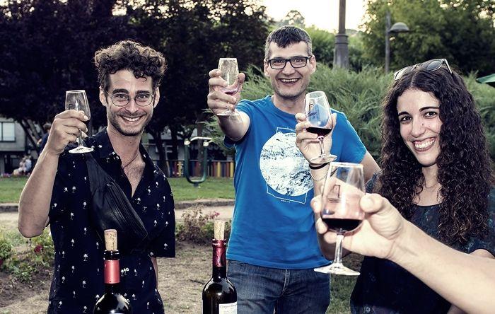 Daniel Radcliffe, durante su visita a la Feria del Vino ;)