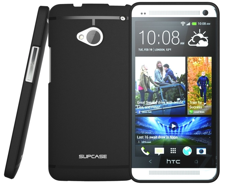 $7 on Amazon.com: SUPCASE Premium Ultra Slim Fit TPU Case for HTC One M7 Smartphone (2 Colors Black or White  Free Screen Protector Included)