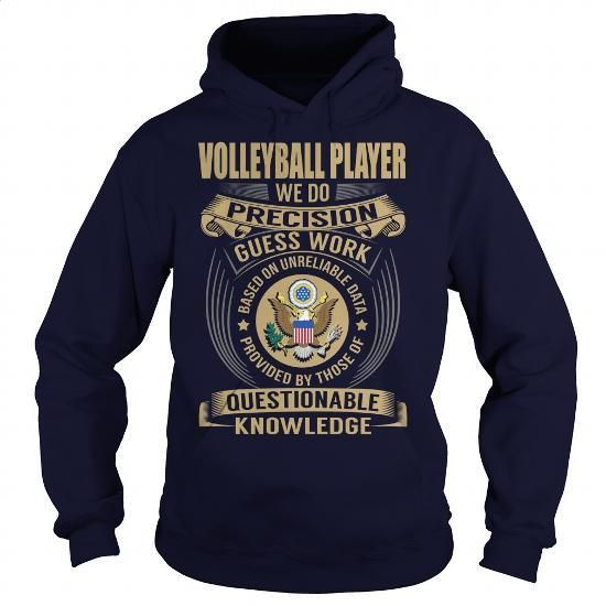 Volleyball Player - Job Title - #link shirt. Volleyball Player - Job Title, black hoodie zip,hoodie with white zipper and strings. ORDER NOW => https://www.sunfrog.com/Jobs/Volleyball-Player--Job-Title-108000826-Navy-Blue-Hoodie.html?id=67911