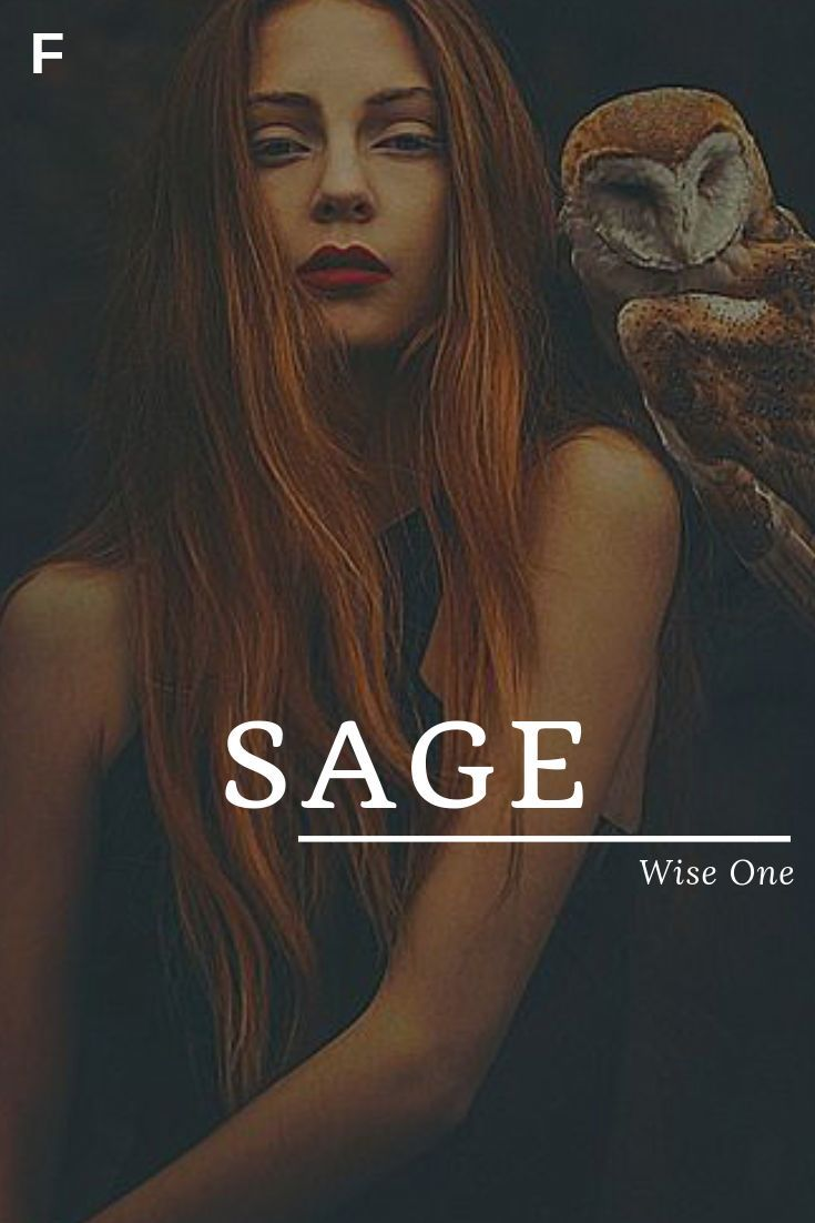 Sage, meaning Wise One, Latin names, S baby girl names, S baby names, female nam