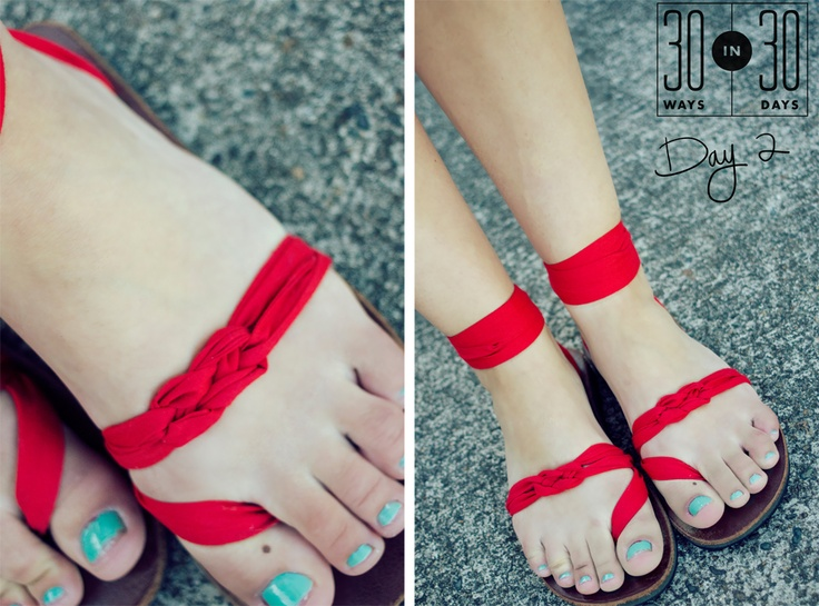 pop of red sseko sandals! and you thought that sailor's knot you learned in grade school would never come in handy...
