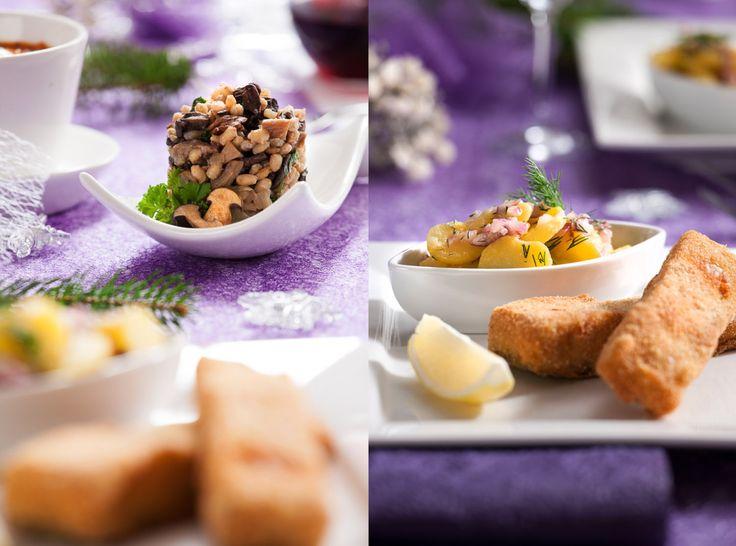 fajn jídla-food foto- Dílna Kalaš Tradiční vánoční pokrm Kuba a vánoční bramborový salát se smaženým kaprem