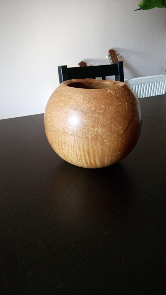 Beech Ball Bowl by FromTheHeartWoodMK on Etsy