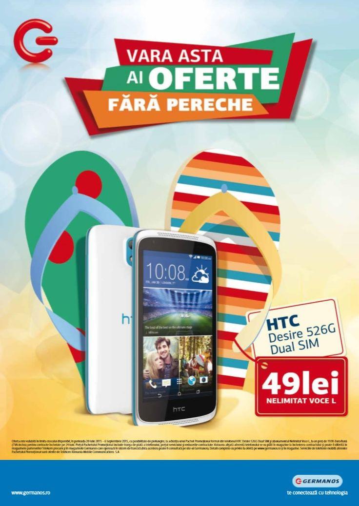 Catalog Germanos Oferte valabile pana pe 6 Septembrie 2015! Oferte in noul catalog Germanos: HTC Desire 526G Dual SIM, pret 49 lei cu abonament Nelimitat.