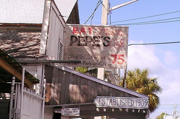 Pepe's Restaurant Key West FL. Excellent food breakfast to dinner. (Don't judge the book by it's cover)
