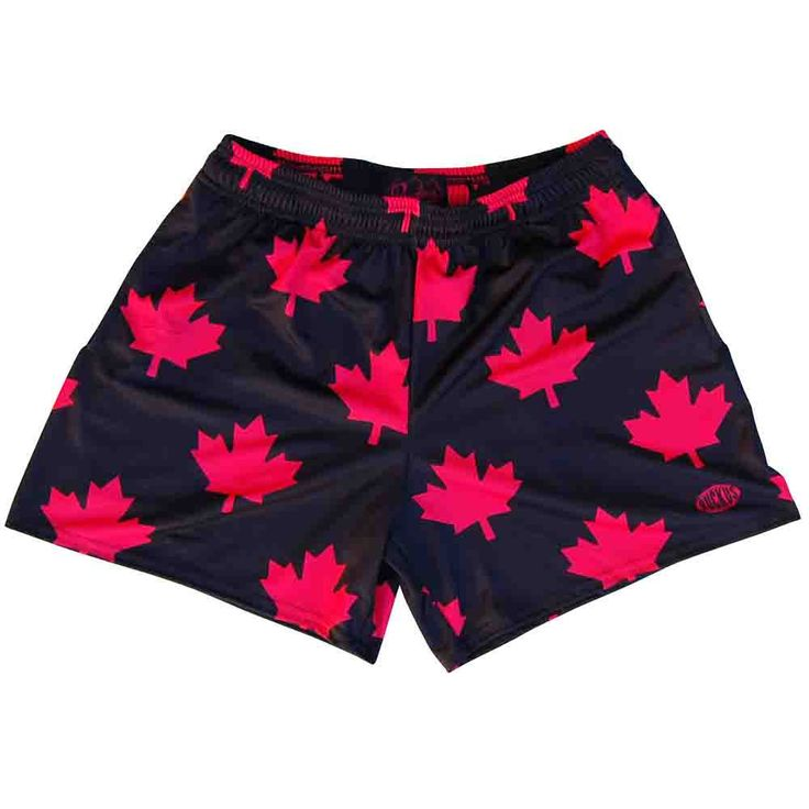 Canada All Over Maple Leafs Rugby Shorts