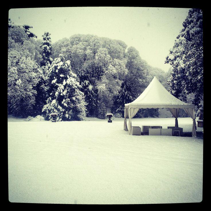 gazebo in the snow, Villa caroli zanchi, matrimonio d'inverno