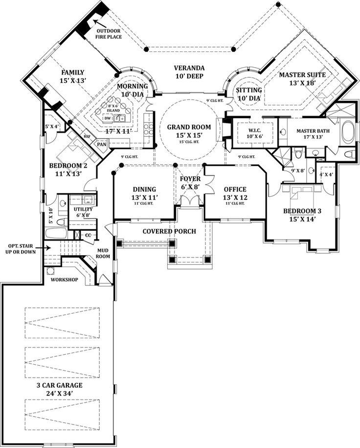 Best Floor Plans Images On Pinterest House Floor Plans - Design luxury house floor plans