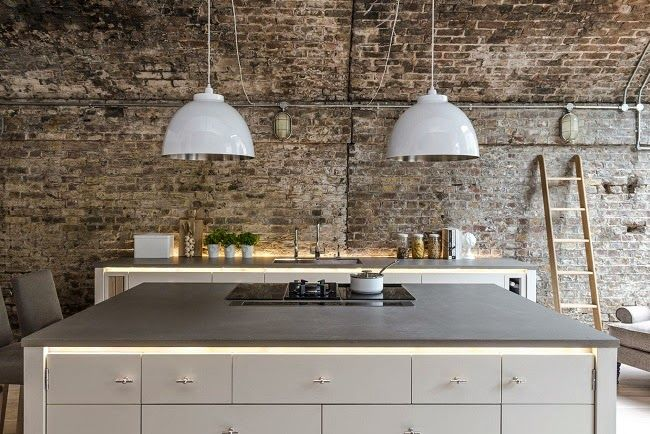amusing industrial kitchen brick wall   1000+ images about Exposed brick walls on Pinterest   Old ...