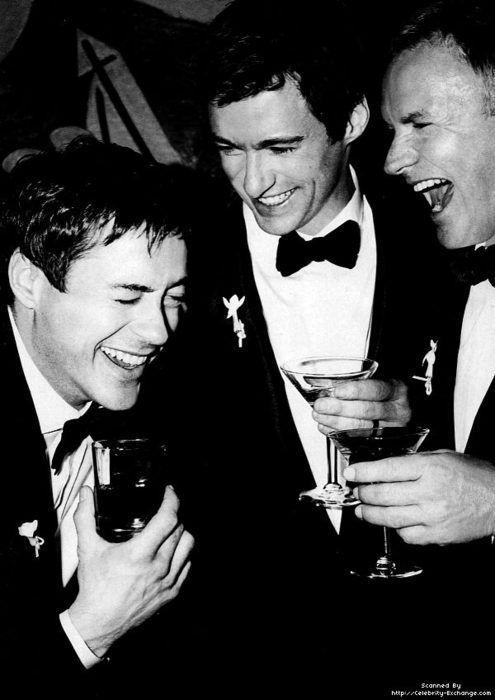 Robert Downey Jr, Hugh Jackman and Sting                                                                                                                                                                                 More