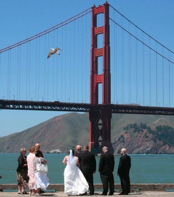 Click To See The Golden Gate Bridge California Wedding Location At Crissy Field Pier In San