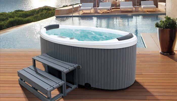 Small Outdoor Hot Tub Far Fetched 2 Person Tubs Plantoburo Com
