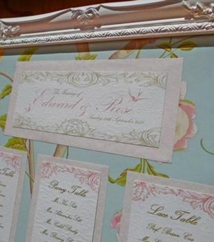 Handmade Wedding Table Plan