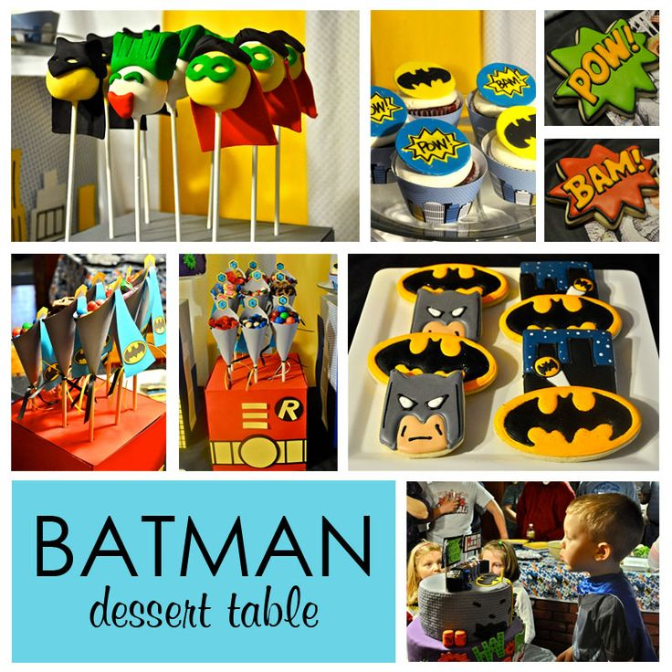 Batman Party: Batman Dessert, Birthday Parties, Superhero Party, Batman Party, Party Ideas, Birthday Ideas, Birthday Party