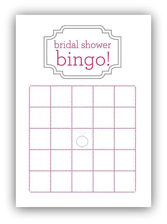 Printable Bridal Bingo Pink...
