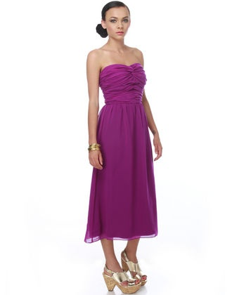 Big Day Purple Strapless Dress
