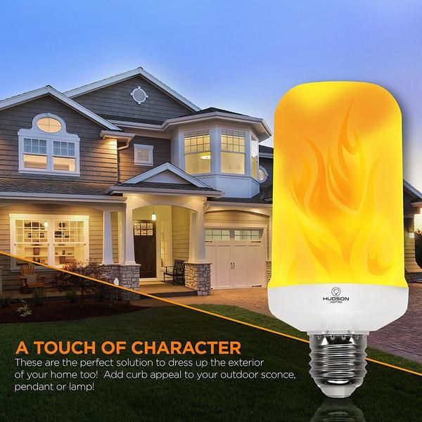 Led Flame Effect Standard Base Lamp Outdoor Sconces Decorative Light Bulbs