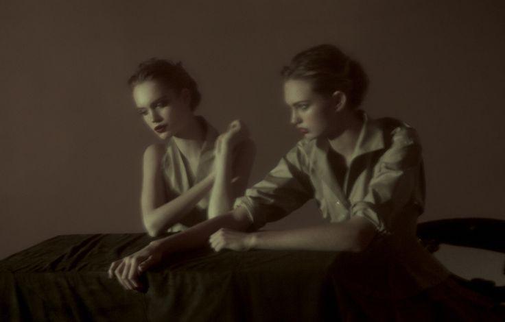 École De Parfumerie | Romee Strijd and Luisa Bianchin | Peppe Tortora #photography | Grey Magazine  Spring/Summer 2012
