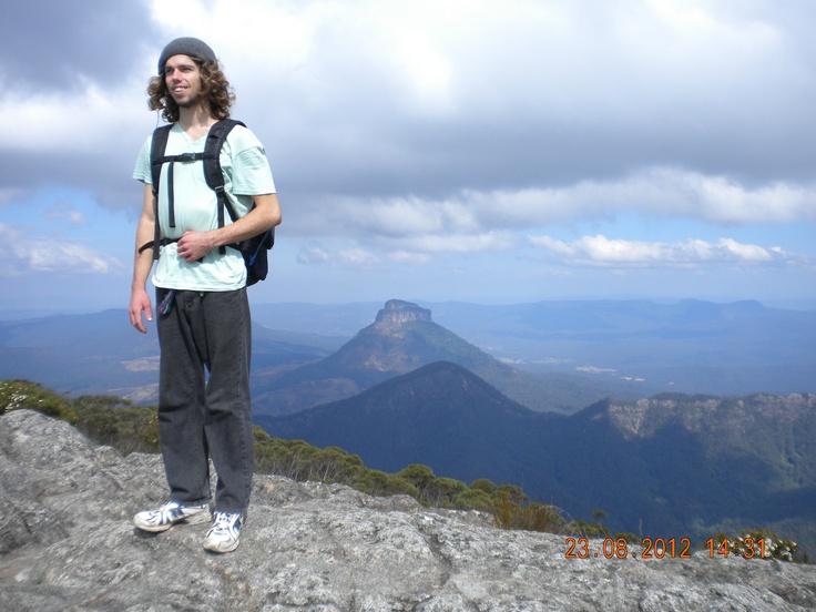 Mountain top - northern NSW, Australia - bushwalking is a major way of growing