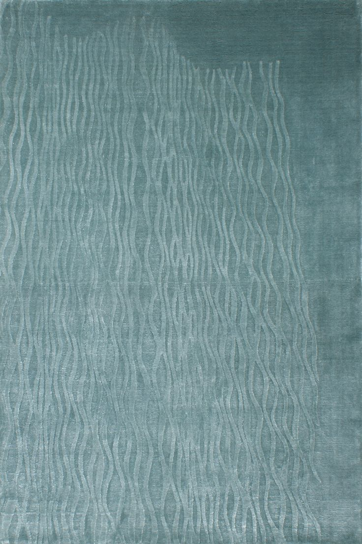 PALINA rug by #sergelesage -  Blue curved lines inducing a feeling of calm and relaxation -