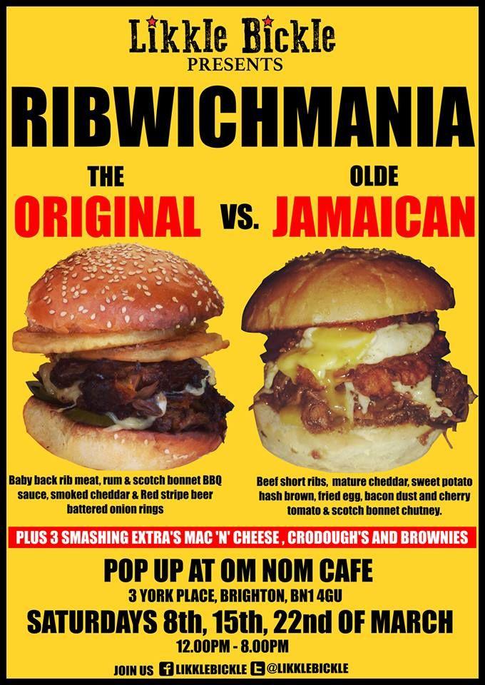 Advertising Poster for: Pop up at Om Nom Cafe, 3 York Place, Brighton BN1 4GU