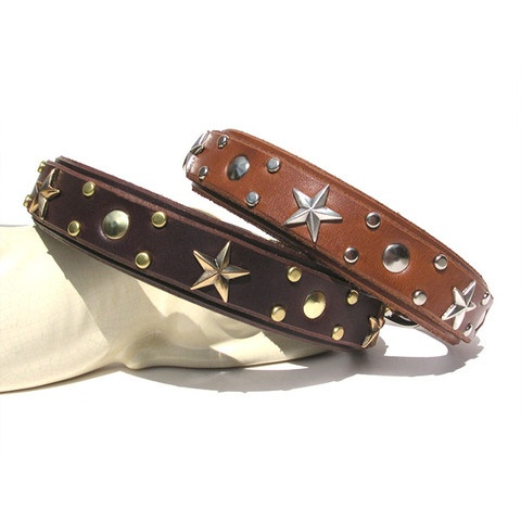 Inexpensive cute leather collars!