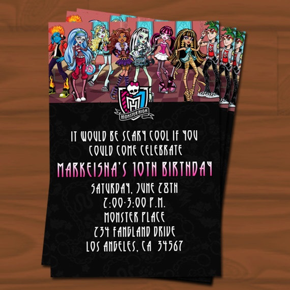 79 best monster high images on pinterest monster high party monster high birthday invitation filmwisefo