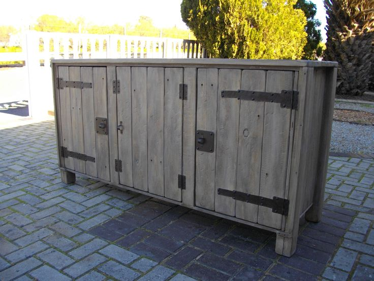 (RS 143) Rustic Server With 3 Doors.  Dimensions L 1660 x W 500 x H 850 mm. Price R4 985 for this size! Can be ordered in the dimensions and colours of your choice! Contact us at Roes & Skroef 0218632371, 0835143382 / Whatsapp Riaan, 0833400954 / Whatsapp Ryk in Paarl, South Africa or e-mail humanr@telkomsa.net for a current exclusive pricelist with photos and measurements.
