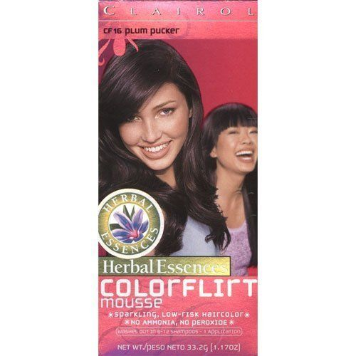 Clairol Herbal Essences Color Flirt Mousse Hair CF16 Plum Pucker (4 Pack) ** Details can be found by clicking on the image.