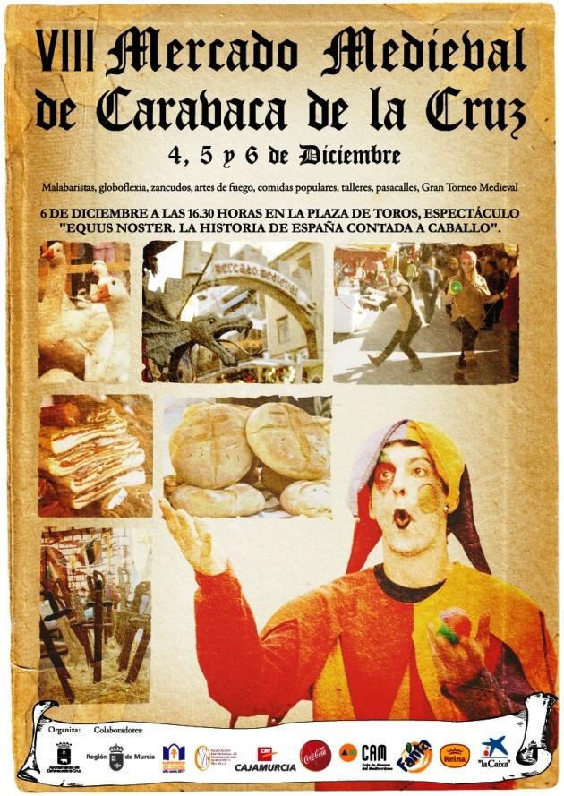 Cartel Mercado Medieval de Caravaca de la Cruz: Medieval De, Cartel Mercado, Of The, Medieval Market, The Cross