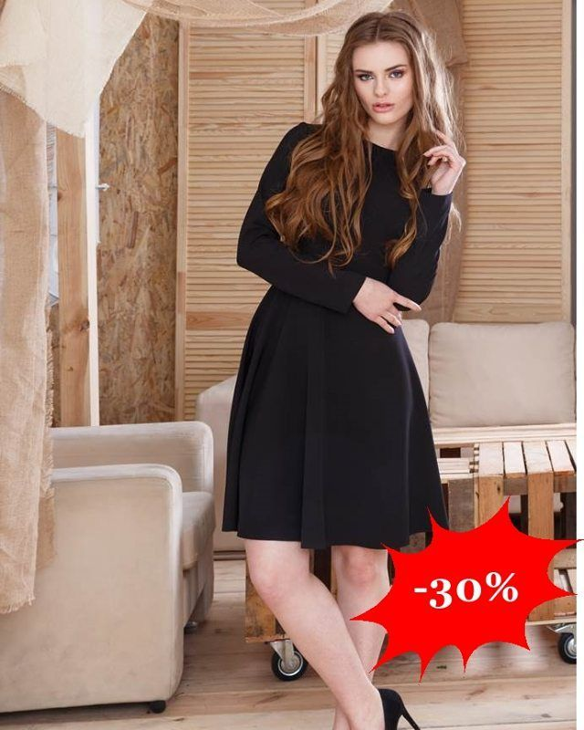 Klasyczna rozkloszowana sukienka w kolorze czarnym  -30%  http://ift.tt/2gZxEWw