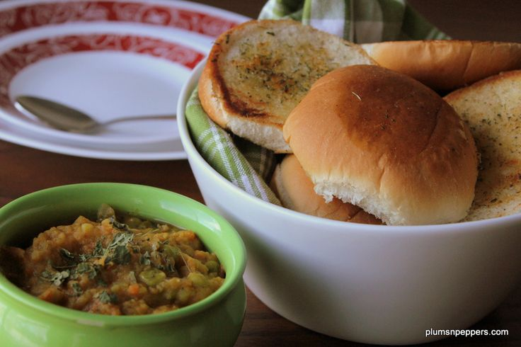 Pav bhaji Mumbai style recipe, famous street food of India, Our dinner rolls served with a spicy mixed veggies curry