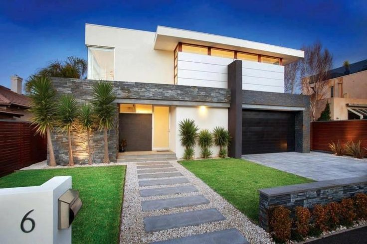 a modern front yard for a residential landscape design