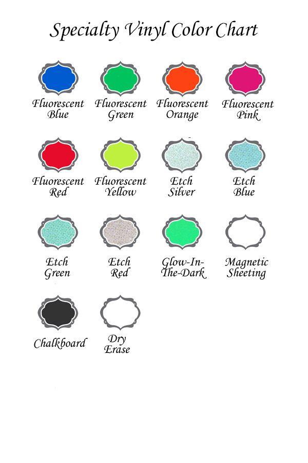 Expressions Vinyl Specialty Vinyl Color Chart Vinyl