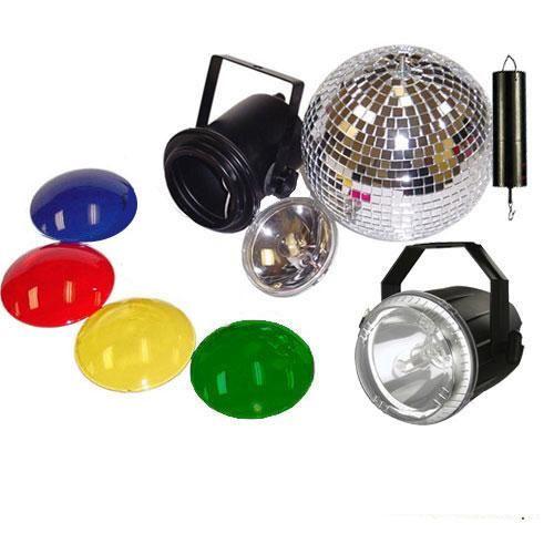 Mirror Ball Kit with 75W Strobe Light