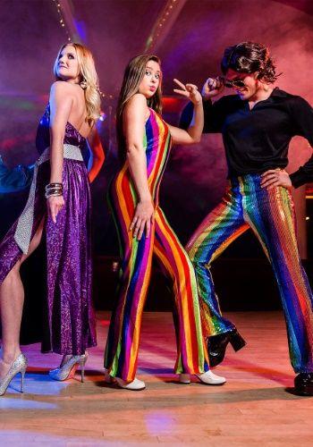 01b9a4ed382 Womens 70 s Disco Jumpsuit Costume Womens