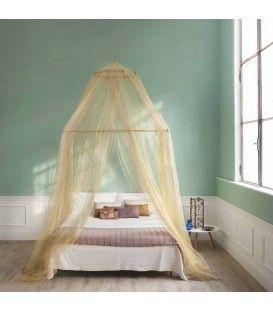 TINA lurex oro - Zanzariera per letto matrimoniale - quattro aperture