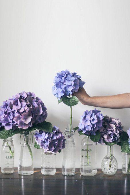Une touche de violet chez soi, fleurs, flowers, hortensia. Again a French one and hydrangeas