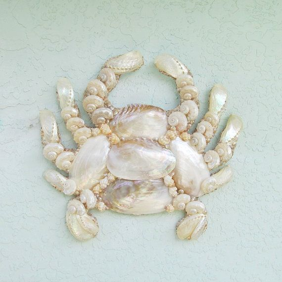 Crab Wall Art Wall Hanging Seashells Coastal By