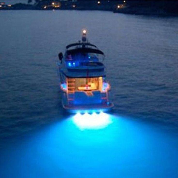 100% Anti-Corrosion Super Bright 9W Underwater Boat Lamp Led Light Lamp Boat Spot Flood Light Boat Drain Plug Light